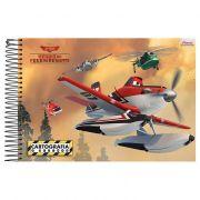 Caderno de Desenho Aviões Capa Dura Costura Universitário 96 Fls 3383945 Foroni