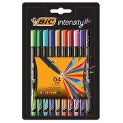 CANETA BIC INTENSITY POINT UTRA FINA 0.4 C/10 CORES BLISTER REF.930193