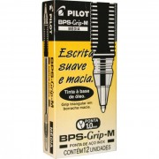Caneta Esferográfica Preta BPS-Grip 10mm Cx C/ 12 Un. 1410003CX012PR Pilot - PORT - Informática - Escritório - Papelaria