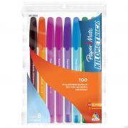 Caneta Esferográfica Kilométrica 100 Color Sort C/ 8 Un. 0001 Paper Mete - PORT - Informática - Escritório - Papelaria