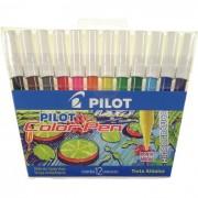 Caneta Hidrográfica Color Pen 12 Cores Ponta Média 1420006JG01200 Pilot - PORT - Informática - Escritório - Papelaria