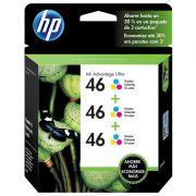 Cartucho de Tinta HP 46 M0H60AL Color Triplo - PORT - Informática - Escritório - Papelaria