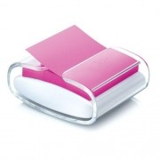 Dispensador Pop-Up Post- It Transparente Branco + Bloco 76mmx76mm Rosa HB004431167 - COD 23201