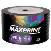 DVD-R 4.7 GB / 120 Min - 16X Tubo C/ 50 Un. Maxprint - PORT - Informática - Escritório - Papelaria