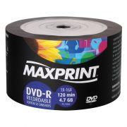 DVD-R Bulk 4.7GB/120min 16x Pino C/ 50 Un. Maxprint - PORT - Informática - Escritório - Papelaria