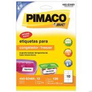 Etiqueta Congelador/Freezer 34x65mm C/ 12 Fls 4A5-Q3465 Pimaco - PORT - Informática - Escritório - Papelaria