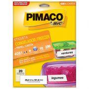 Etiqueta Congelador/Freezer Carta 25,4x101,6mm C/ 300 Un. 4081 Pimaco