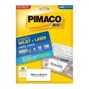 Etiqueta Pimaco InkJet + Laser - 6083 - PORT - Informática - Escritório - Papelaria