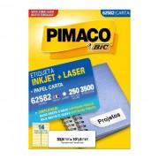 Etiqueta Pimaco InkJet + Laser - 62582