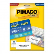 Etiqueta Pimaco InkJet + Laser - 6283
