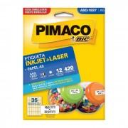 Etiqueta Pimaco InkJet + Laser - A5Q1837
