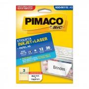 Etiqueta Pimaco InkJet + Laser - A5Q66115