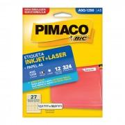 Etiqueta Pimaco Laser A5Q1250 - PORT - Informática - Escritório - Papelaria
