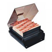 Fichária de Mesa Fumê C/ Indice 3X5 M74 Menno - PORT - Informática - Escritório - Papelaria