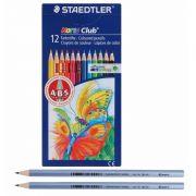 Lápis de Cor 12 Cores Sextavado Kit Escolar Woper 61SET12 Staedtler - PORT - Informática - Escritório - Papelaria