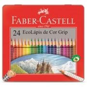 Lápis de cor 24 cores - lata grip - 121024LT - Faber-Castell
