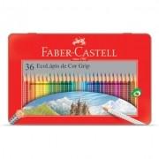 Lápis De Cor Faber-Castell 36 Cores Grip Lata
