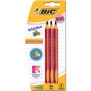 Lápis Grafite Nº2 HB Jumbo Kids Evolution C/ 3 Un. 902494 BIC