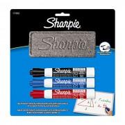 Marcador P/ Quadro Branco Kit C/ 3 Un. + Apagador Grátis Sharpie - PORT - Informática - Escritório - Papelaria