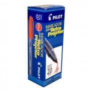 Marcador P/ Retroprojetor 2.0mm Vermelho CX. C/ 12 Un. Pilot