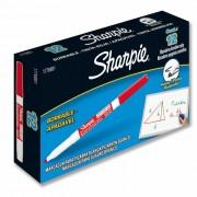 Marcador Permanente Fino Multiuso Vermelho CX. C/ 12 Un. Sharpie - PORT - Informática - Escritório - Papelaria