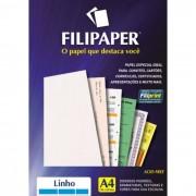 Papel Linho Branco A4 180g 50 Fls 00967 Filipaper