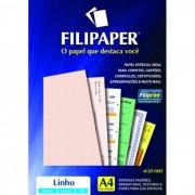 Papel Linho Salmão A4 180g 50 Fls 00975 Filipaper