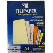 Papel Linho Palha A4 90g 100 Fls 00972 Filipaper - PORT - Informática - Escritório - Papelaria