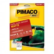 Papel Mate Ink Jet Fosco A4 170g C/ 20 Fls PI2070M Pimaco