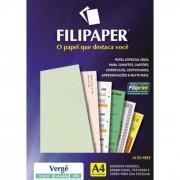 Papel Verge Verde Claro A4 120g C/ 50 Fls 01363 Filipaper - PORT - Informática - Escritório - Papelaria