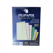 Papel Verge Verde Claro A4 180g c/ 50 Fls 00996 Filipaper - PORT - Informática - Escritório - Papelaria