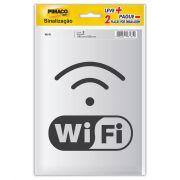 Placa de Sinalização Adesivo Pimaco 14x19cm Internet Wi-Fi - PORT - Informática - Escritório - Papelaria