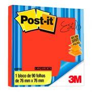 Refil Pop-Up 76MM X 76MM Vermelho Telha 90 Fls. HB004389282 3M - PORT - Informática - Escritório - Papelaria