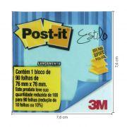 Refil Pop-Up 76MMX76MM Azul Ceu 90 Fls 3M - PORT - Informática - Escritório - Papelaria