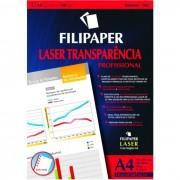 Transparência Laser A4 C/ Tarja Env C/ 50 Fls 02604 Filipaper - PORT - Informática - Escritório - Papelaria