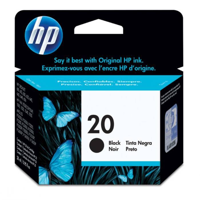 Cartucho de Tinta HP 20 C6614D Preto