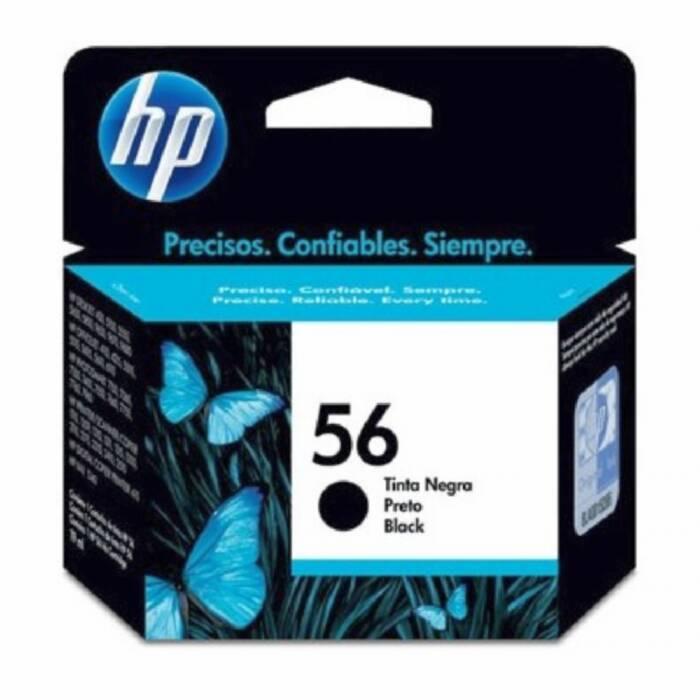 Cartucho de Tinta HP 56 C6656AB Preto