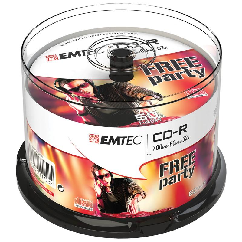 CD-R 80min / 700mb 48x Emtec Tubo C/ 50 Un. EMTEC