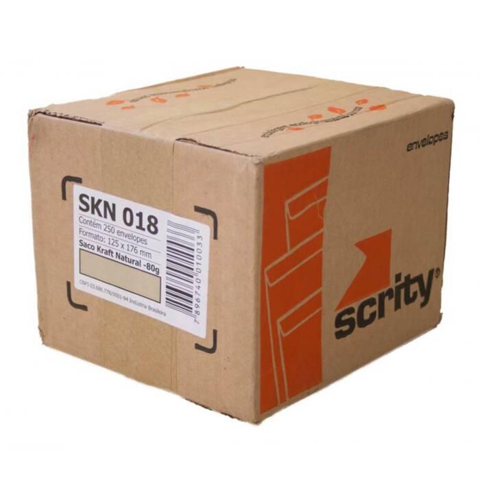 Envelope Saco Kraft 18 125X176mm 80G CX. C/ 250 Un. Scrity