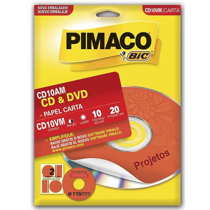 Etiqueta Pimaco P/ CD CD10VM