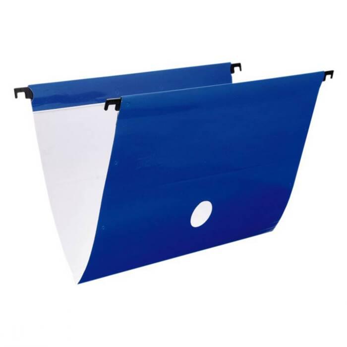 Pasta Suspensa Plus Plastif Azul Cartão Triplex Completo C/ 6 Un. 0099C Dello