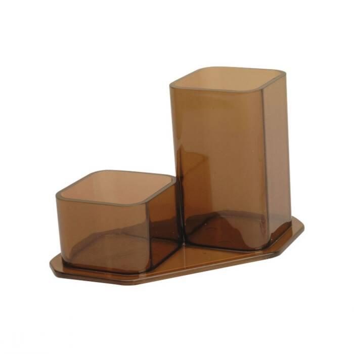 Porta Lápis/Clips Fumê Conjunto Duplo Injetado 007000614 Menno