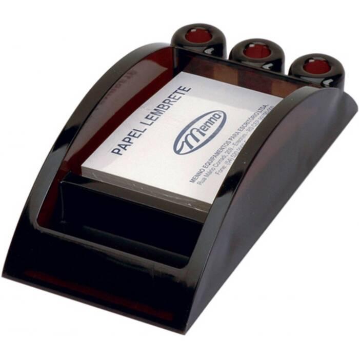 Porta Lembrete/Caneta/Clips Fumê Pequeno Luxo 007000270 Menno