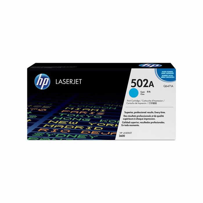 Toner HP 502A Q6471A Ciano