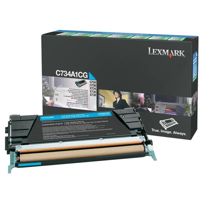 Toner Lexmark C734A1CG Ciano