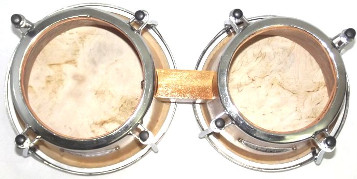 Bongo Madeira Pele Natural Grande de 8 ½ e 9 ½ Polegadas da Luen