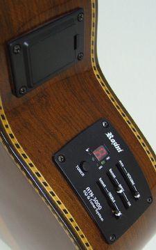 Captador Rozini de Cavaquinho com Afinador Embutido e Equalizador 2 Bandas e Saída P10 - RA-ATN3000