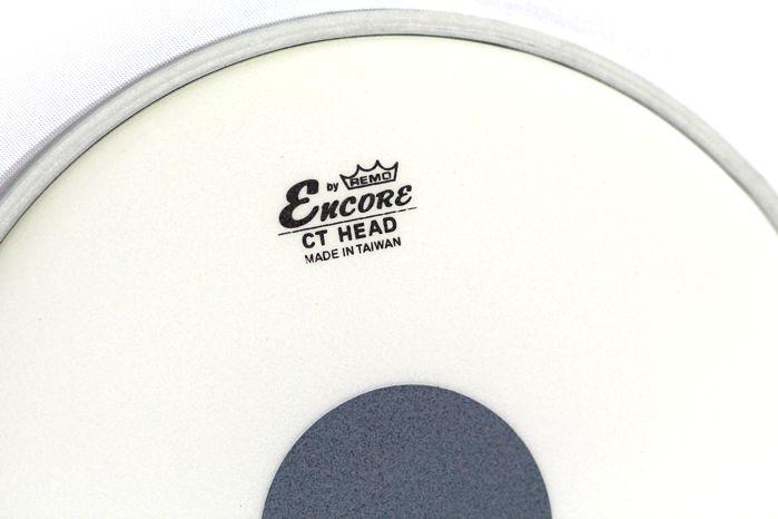 "Pele de TOM de Bateria de 08"" Remo Encore Controlled Sound Porosa Bola Preta Coated - EN-0108-CT"
