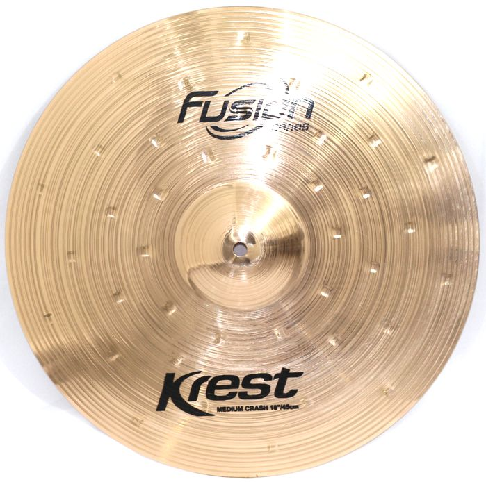 Prato Medium CRASH - Ataque - 18 Serie Fusion da KREST CYMBALS Bronze B8