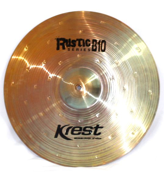 Prato Medium CRASH - Ataque - 18 Serie Rustic B10 da KREST CYMBALS Bronze B10